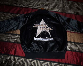 Vintage 1991 Star Trek 25th Anniversary Crew and Cast Jacket