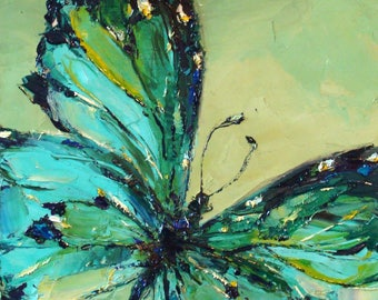 Butterfly. Green-blue