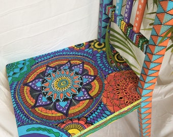 Upcycled Mandala Wooden Chair, upcycled furniture, colourful painted chair