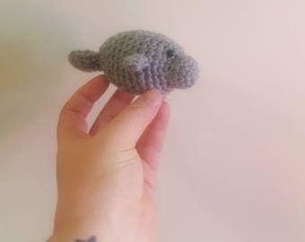 Mini handmade manatee plush toy