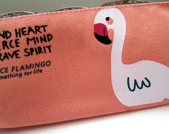 Flamingo Pencil Case/Cosmetic bag