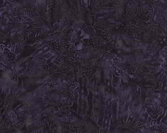 Ink Tropical Foliage Batik Fabric from Timeless Treasures