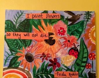 Frida Kahlo Inspired painting