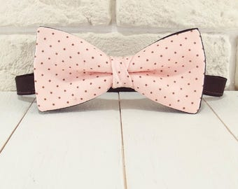 Bow tie Toffee / bow tie pink to pea
