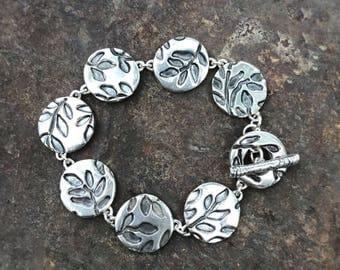 Sterling vines bracelet
