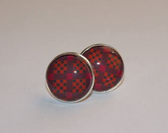 Stud Earrings 18 mm cabochon