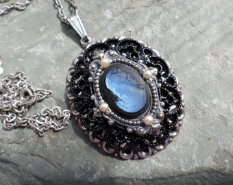 Victorian Gothic Layered Ethereal Portrait Necklace