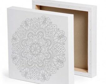 Kholam - Mandala painting on canvas - frame 3D - DIY