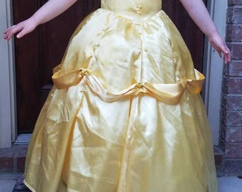 Belle ball gown yellow