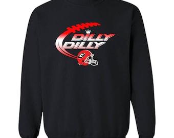 Georgia Bulldogs Dilly Dilly T-Shirt Dilly Dilly Georgia Bulldog Football Shirts for Fans Crewneck Pullover Sweatshirt 8 oz