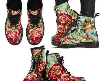 """Leather boots """"Roses"""" by Mark Ashkenazi for WOMEN custom made!"""