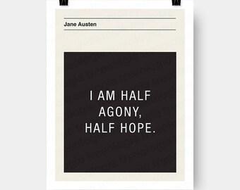 Jane Austen Quote Wall Art Digital Download