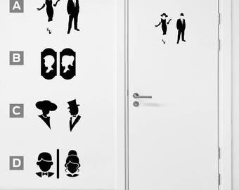 Bathroom Sign Man And Woman peg leg pirate and mermaid toilet sign bathroom sign toilet