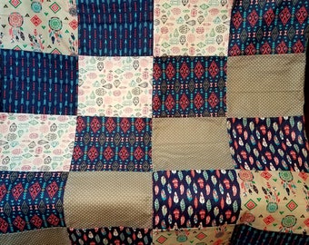 Tribal Feathers Quilt