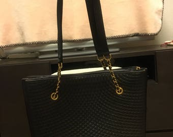Authentic Bally Quilted Vintage Tote Bag