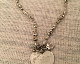 Original Rodrigo Otazu Necklace with Heart Pendant