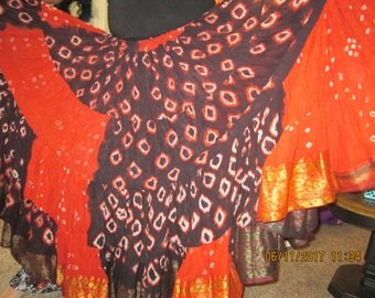 On sale now!!!!!!! Light and Airy 25 Yd Belly dance skirt ATS Tribal (5A)