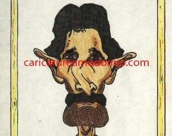Caricatures only face or bust in color