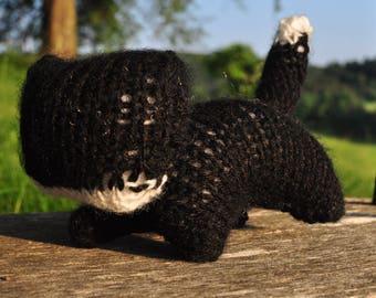 Knit Black Cat