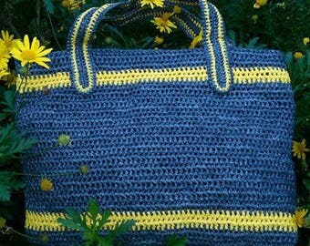 The Bec- Tote Style- Plarn Bag- Crochet Bag-Recycled Plastic bags