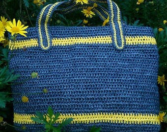 Tote Style- Plarn Bag- Crochet Bag-Recycled Plastic bags