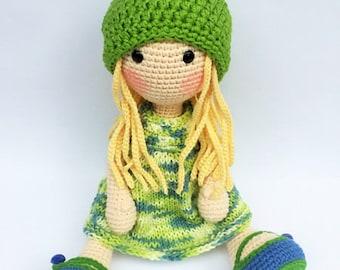Handmade crochet doll Blondie - free shipping!!