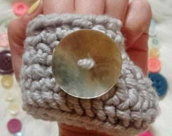 Luxury 100% Merino Wool Crochet Baby Booties