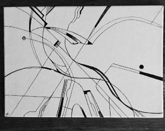 Perfectly Fine Thank Yous ~ ink on canvas ~ biomorphic  ~ abstract ~ dp