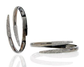 Diamond Open Cuff Bangle
