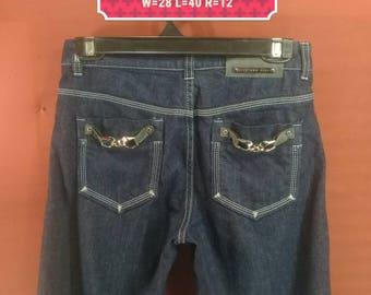 Vintage Sportmax Code Jeans Dark Blue Colour Size Designer Junya Watanabey Jeans Issey Miyake Pants