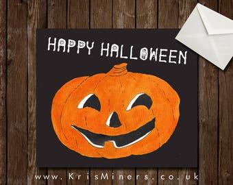Whimsical Happy Halloween Greetings Card