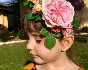 Baby soft pink, Rose headband