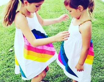 New Hi Low Rainbow dress