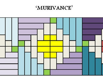PDF Table Runner quilt PATTERN ....Quick and Easy ... Jelly Roll friendly ...'MURIVANCE' ... Instant download
