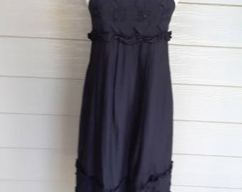 Little Black Cotton Sundress