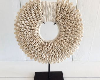 Shells necklace-Tribal shell necklace-white