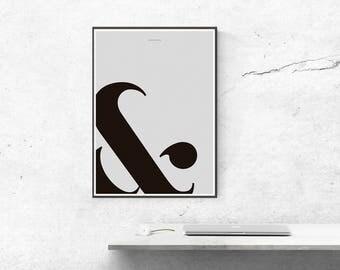 Ampersand Wall Art black ampersand | etsy