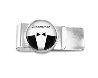 Groomsman money clip groomsman money clip bridal party money clip wedding party gift mens money clip custom photo money clip groomsmen gift