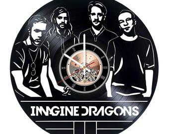 Imagine Dragons Vinyl Record Wall Clock gift idea wall art decor