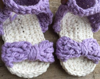Baby girl knitted sandals