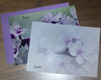 Notecard 5x7 Purple Flower