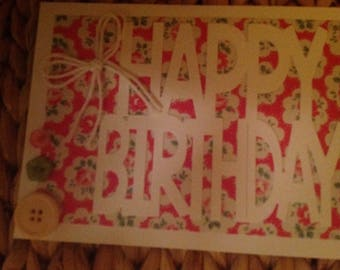 Card made with Cath Kidston paper