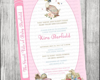 Storybook Girl Baby Shower Invitation