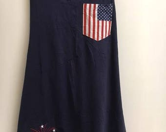 American Flag Tank Dress**customize**