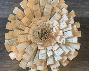 Rustic Paper Wreath