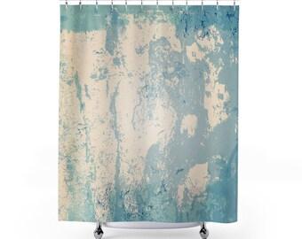 Plaster designed Shower Curtains - Shower Curtain - printed shower curtain - plaster style