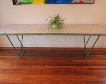 Long Trestle Table with Foldable Legs (2.7m long!)