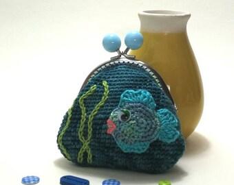 Under the sea Crochet Coin Purse