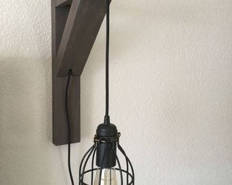 Corbel Sconce Light with Edison Bulb
