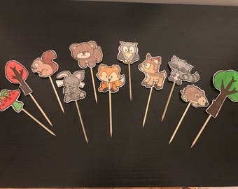Woodland Creature Cupcake Toppers